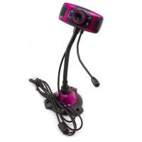 Веб-камера с подсветкой Iyigle черно-фиолетовый