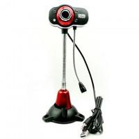 Веб-камера с подсветкой Iyigle EG-130 черно-красная