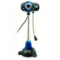 Веб-камера с подсветкой Iyigle EG-130 черно-голубая