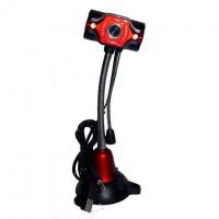 Веб-камера с подсветкой Iyigle EG-131 черно-красная