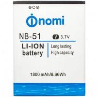 Аккумулятор NOMI NB-51 для i500 1800 mAh AAAA/Original тех.пакет