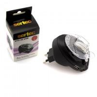 Сетевое зарядное устройство Краб Sertec UTC-02 0.5A black