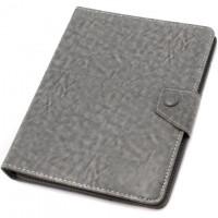 Чехол-книжка 8 дюймов уголки-магнит NEW серый