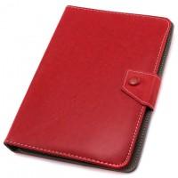 Чехол-книжка 8 дюймов уголки-магнит NEW красный