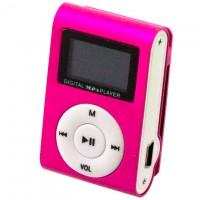 MP3 плеер TD05 с FM и дисплеем розовый