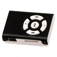 MP3 плеер пластик-металл NEW Черный