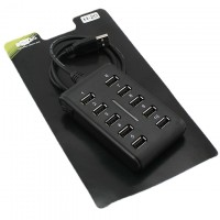 USB Hub H-20 10 PORT 0.6m additional power black