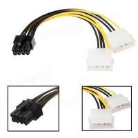 Переходник-адаптер питания с 2xIDE 4pin на PCI-E 8pin