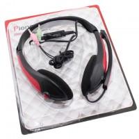 Наушники для ПК с микрофоном MZ-Series OK-800 красные