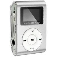 MP3 плеер TD05 с FM и дисплеем серебристый