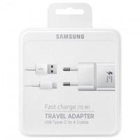 Сетевое зарядное устройство EP-TA20EWE Samsung S7 Fast Charge 2in1 9V 1USB 2.0A 5W Type-C white (пластик)