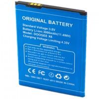 Аккумулятор Doogee X6, X6 Pro 3000 mAh AAAA/Original тех.пакет