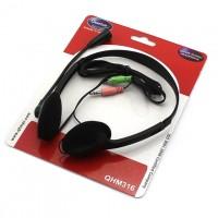 Наушники для ПК с микрофоном QHM316 черные