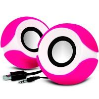 Колонки для компьютера G109 ZH круглые pink-white