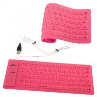 Клавиатура силиконовая Active 105C розовая
