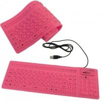 Клавиатура силиконовая Active 85KB розовая