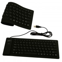 Клавиатура силиконовая Active 86K черная