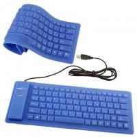 Клавиатура силиконовая Active 86K синяя