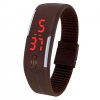 Часы наручные LED Watch A001 коричневые