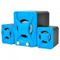 Колонки для компьютера 2.1 XSD-2 черно синие
