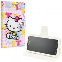 Универсальный чехол-книжка Without Window 4.0″ (3.8-4.3) Hello Kitty