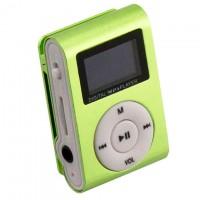 MP3 плеер TD05 с FM и дисплеем салатовый