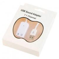 Звуковая карта USB-3.5 mini jack 7in1 Apple white