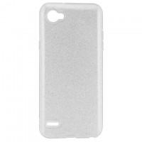 Чехол силиконовый Shine LG Q6 серебристый