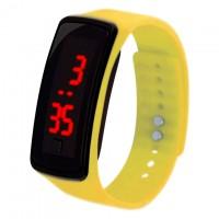 Часы наручные LED Watch A002 желтые