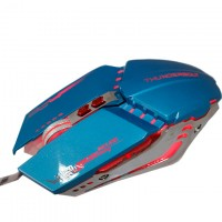 Мышь проводная Zornwee GX20 игровая с подсветкой синяя