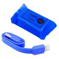 Кабель USB - Lightning (плоский шнур) 0.2m синий