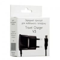 Сетевое зарядное устройство Travel Charger 0.6A mini-USB black