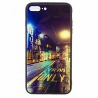 Чехол накладка Glass Case New Apple iPhone 7 Plus, 8 Plus дорога