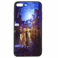 Чехол накладка Glass Case New Apple iPhone 7 Plus, 8 Plus переулок