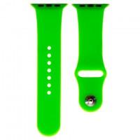 Ремешок Apple Watch Band Silicone One-Piece 38mm 04, зеленый