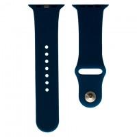 Ремешок Apple Watch Band Silicone One-Piece 38mm 10, темно-синий