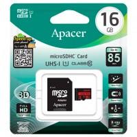 Карта памяти micro SD Apacer 16Gb class 10 + SD adapter