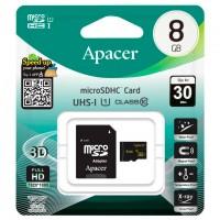 Карта памяти micro SD Apacer 8Gb class 10 + SD adapter
