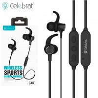 Bluetooth наушники с микрофоном Celebrat A8 черные