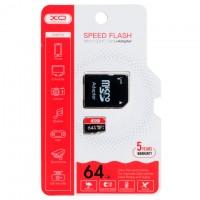 Карта памяти micro SD XO 64Gb class 10 + SD adapter