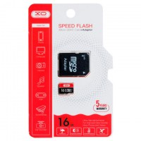 Карта памяти micro SD XO 16Gb class 10 + SD adapter