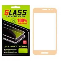 Защитное стекло Full Screen Samsung J2 Core J260 gold Glass