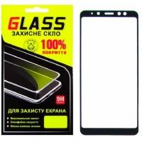 Защитное стекло Full Glue Samsung A8 Plus 2018 A730 black Glass
