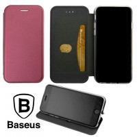 Чехол-книжка Baseus Premium Edge Meizu X8 бордовый