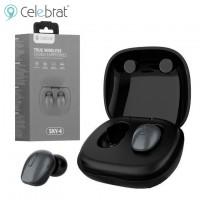 Bluetooth наушники с микрофоном Celebrat SKY-4 черные