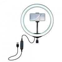 Кольцевая лампа ZD666 26см (с держателем/без подставки/съемный шарнир)