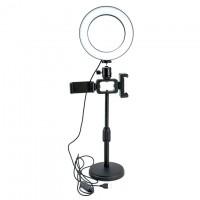 Кольцевая лампа LiveStream 16см (с двумя держателями/c подставкой)