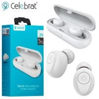 Bluetooth наушники с микрофоном Celebrat TWS-W5 белые