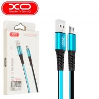 USB кабель XO NB154 micro USB 1m голубой