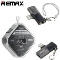 Переходник Remax RL-LA09i Double Lightning черный